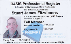 BASIS PROMPT registration certifies that our technicians have received a high standard of training  (RSPH Pest Management Level 2  is a required  qualification  to join) but also to remain on the register our technicians must be prepared to spend time keeping up-to-date through Continuing Professional Development (CPD).